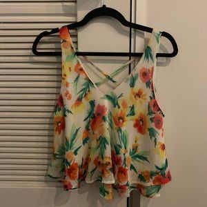 Lush flowered tank top - size S